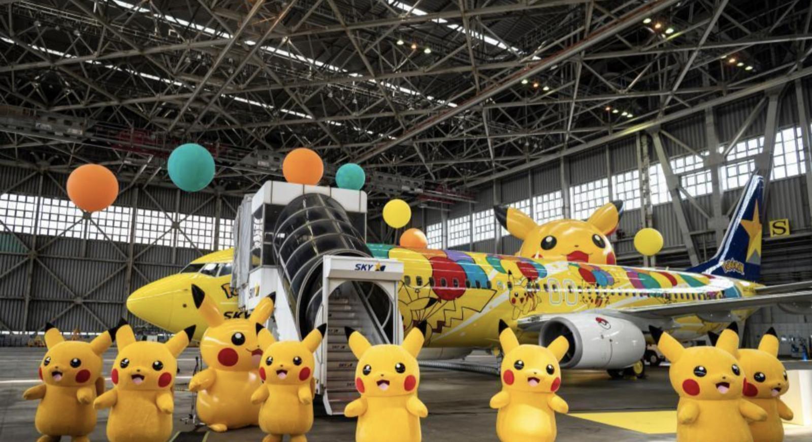 """日本天马航空公司推出""""皮卡丘""""客机 将欢乐带向天空"""